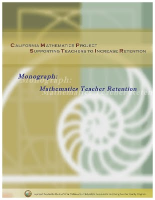 Mathematics Teacher Retention Monograph Cover